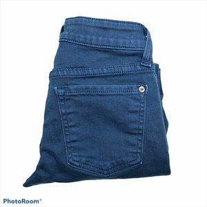 Vince Crop Skinny Ankle Glacier Blue Stretch Jeans